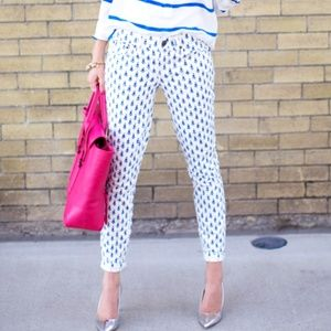 J. Crew Cropped Matchstick Jean in Thistle Print